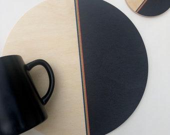 DIPPED trivet centerpiece / desk coaster
