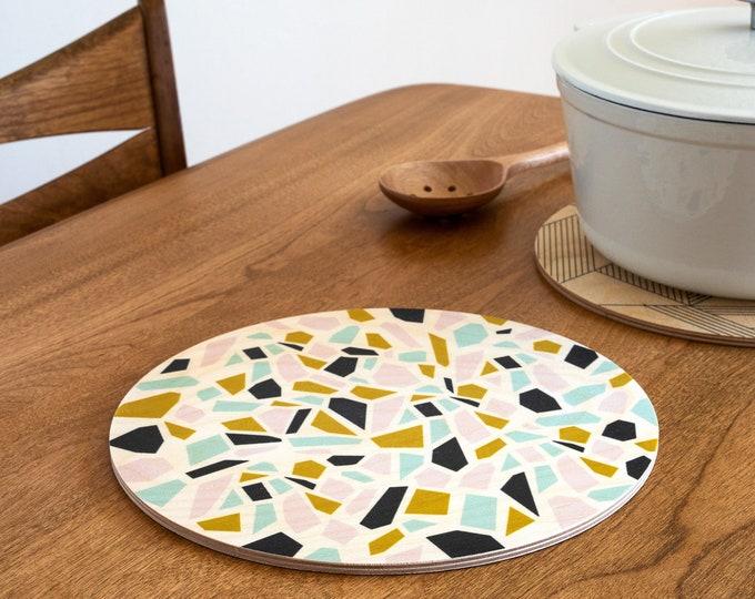 TERRAZZO Trivet Centerpiece  / Desk Coaster