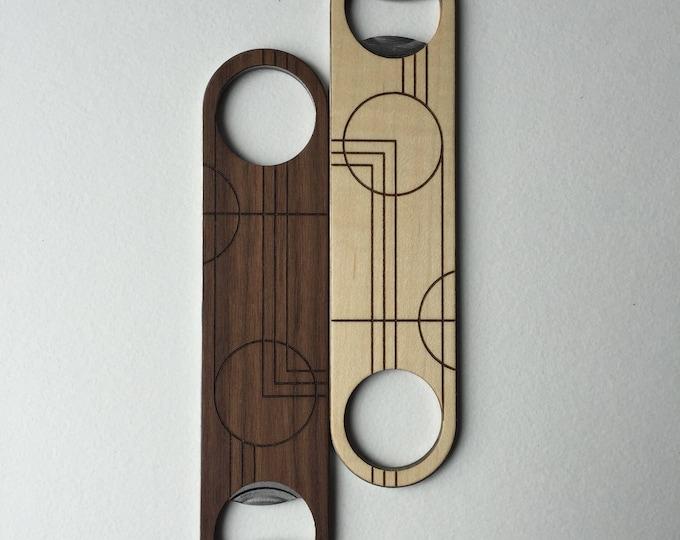 PRAIRIE Wood Bottle Opener | Walnut or Maple