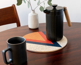 ARROW trivet centerpiece / desk coaster