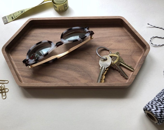 FACETS geometric wood desk organizer