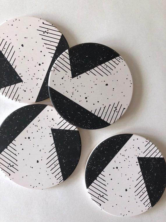 MEMPHIS COASTERS set of 4 ceramic coasters