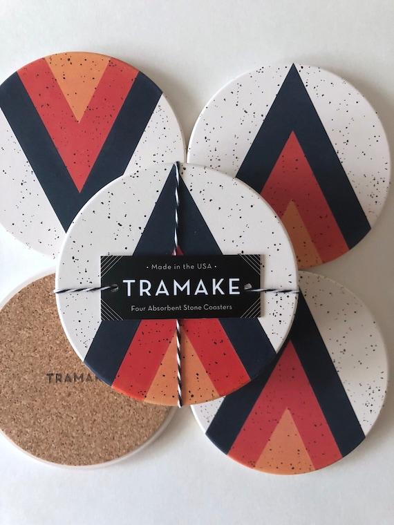 ARROW COASTERS set of 4 ceramic coasters