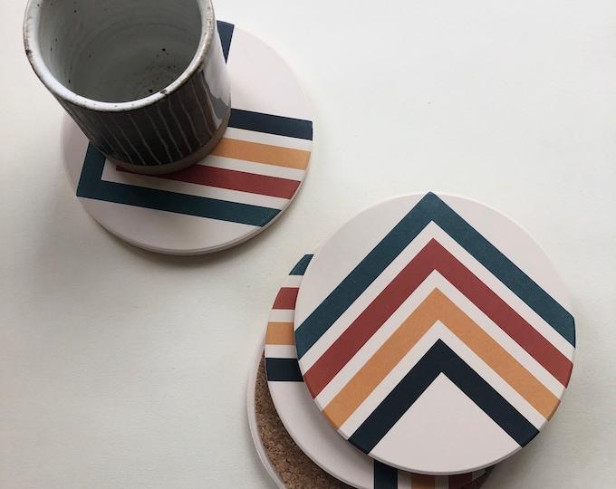 ANGLES COASTERS set of 4 ceramic coasters
