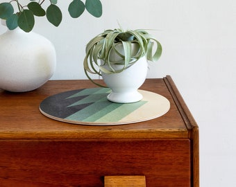 modern trivet wood centerpiece / geometric large coaster/ wood trivet/ growler holder/ outdoor coaster