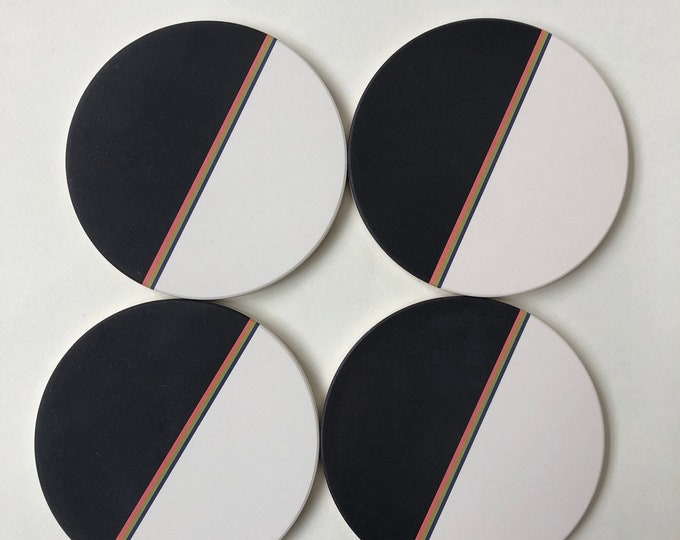 DIPPED COASTERS set of 4 absorbent ceramic stone
