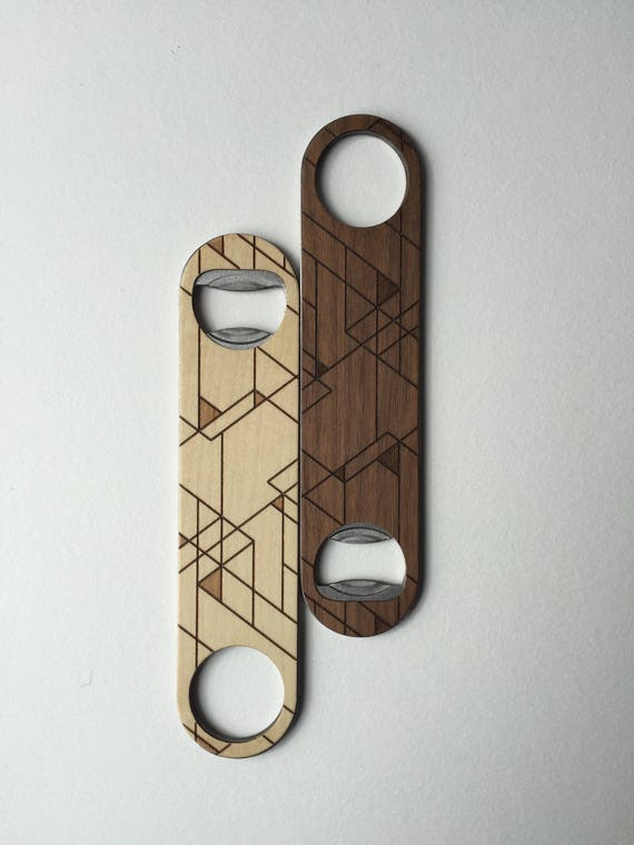 SCANDI Wood Bottle Opener | Walnut or Maple