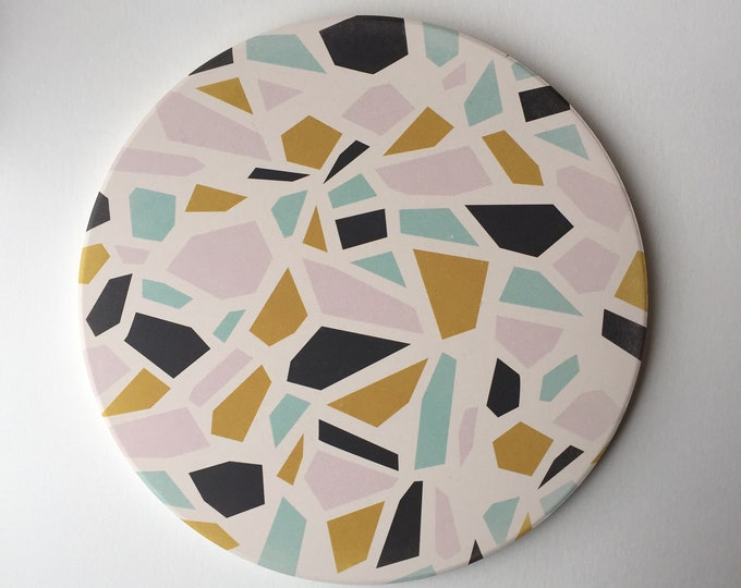 TERRAZZO absorbent stone trivet