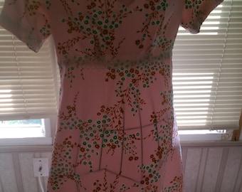 Pink Cherry Blossom Spring/Summer Dress