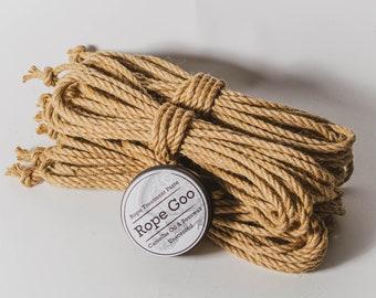Shibari Jute Bundle of 4 Lengths with Rope Treatment Goo Untreated