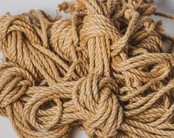 Shibari Jute Assorted Bundle of 5 Short Ropes Untreated