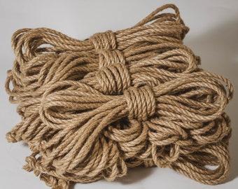 Custom Length of Jute Rope for Shibari, 6mm diameter untreated