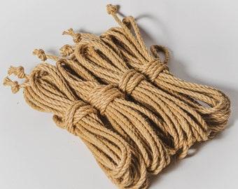 Shibari Jute Bundle of 4 Lengths Untreated