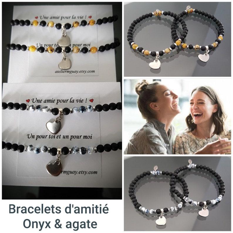 Onyx /& agate friendship bracelets