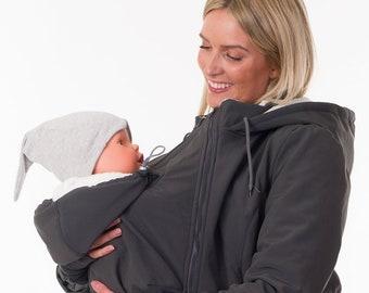 3-en-1 portant le manteau de Portage hiver Veste maternité carapace molle a92afad71f3