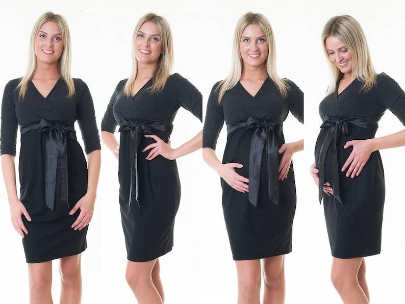 3in1 maternity fashion maternity dress standstill dress satin bow maternity wear