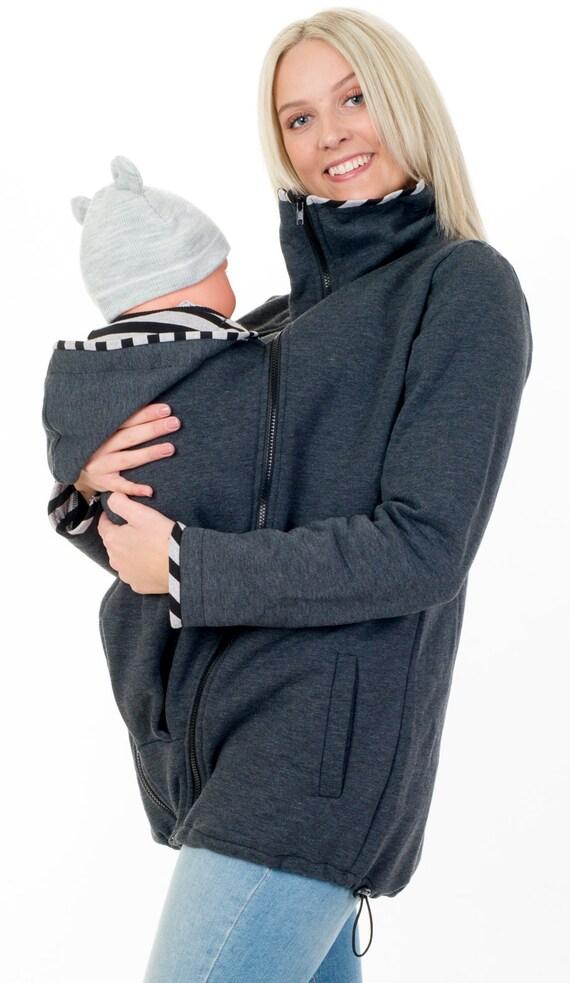 Tragejacke für Mama und Baby Umstandsjacke Babytragejacke   Etsy 3424115c1ec