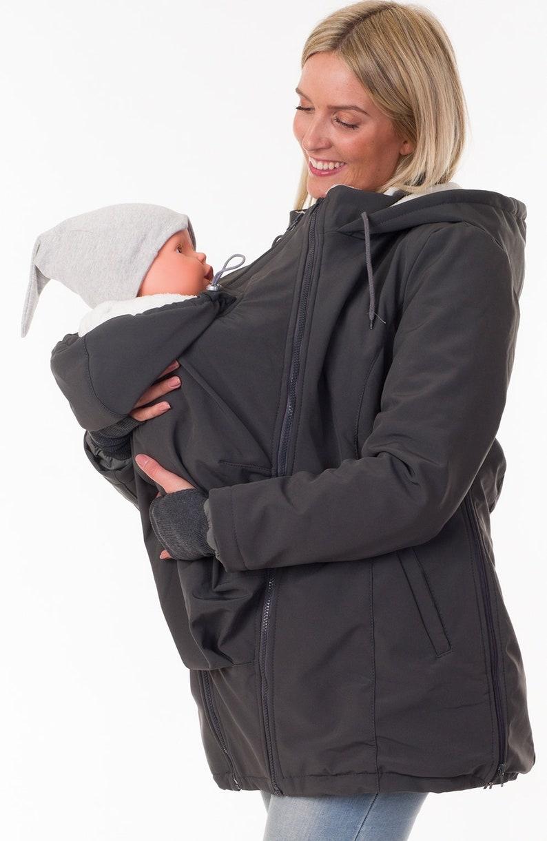 hübsch und bunt Online-Einzelhändler exquisiter Stil 3in1 Tragejacke Umstandsjacke Softshell Winter babywearing coat