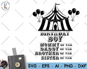 Circus theme SVG circus clipart SVG circus birthday boy theme svg digital decal svg cut file Cricut Instant Download vector SVG png dxf