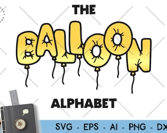 Balloon font | Etsy
