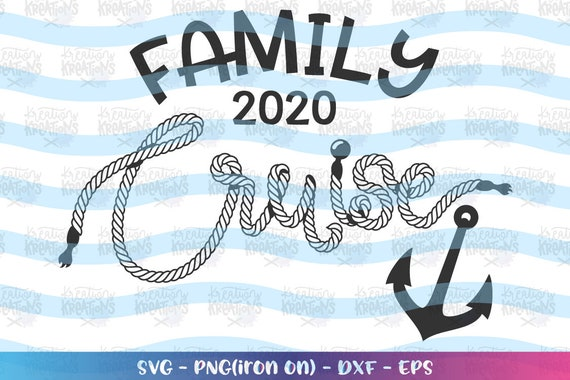 Family Cruise Svg Cruise Rope Hand Drawn Svg Rope Letters Etsy