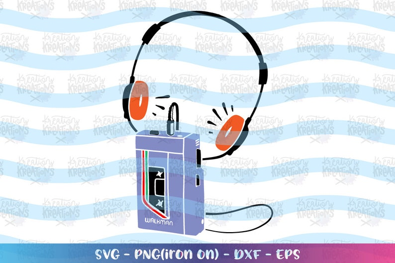 Vintage Music Player Walkman svg Old school svg 90s 80s walkman svg music  player print cut file silhouette cricut cameo vector svg png eps