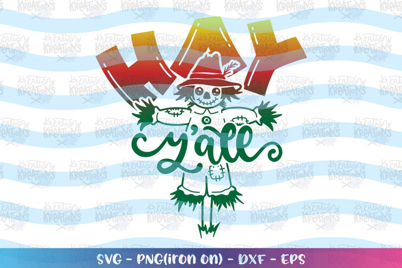 Hay Y'all svg scarecrow cute fall quote svg cute scarecrow image 0