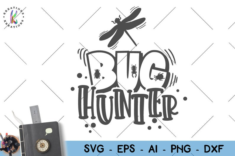 Bug Hunter svg Bugs camping kids shirt desgin hand drawn svg cute print  iron on cut files silhouette cricut cameo vector svg png eps
