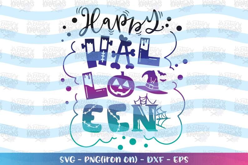 Happy Halloween svg cute kids design scary pumpkin clipart image 0