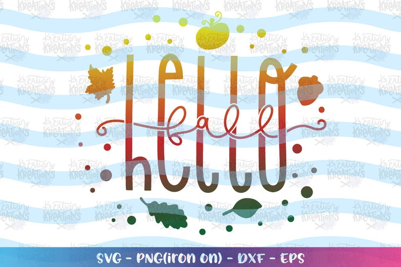 Hello Fall svg Hello Autumn quote svg fall sayings svg pumpkin image 0