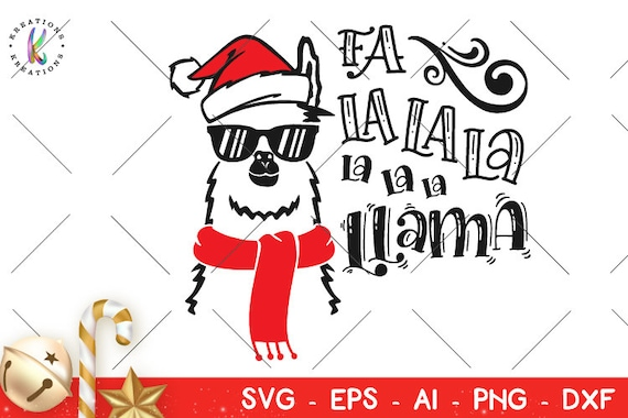 Christmas Llama.Llama Svg Christmas Llama Svg Christmas Cheer Funny Iron On Cut Files Cricut Silhouette Instant Download Vector Svg Dxf Png Eps