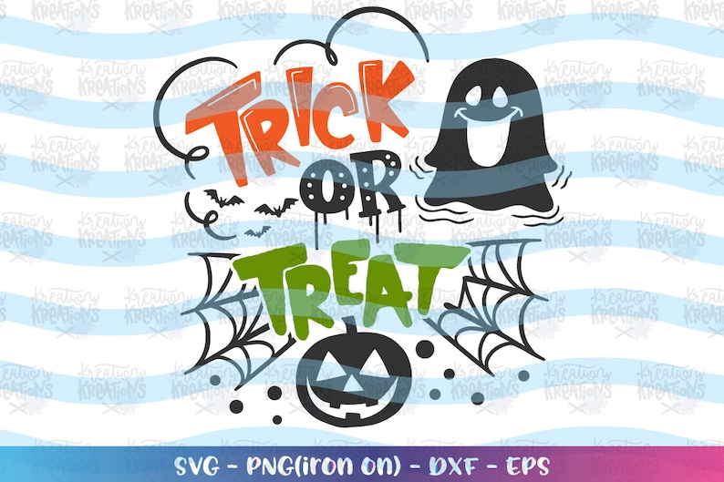 Trick or Treat SVG Happy Halloween svg hand drawn svg hand image 0