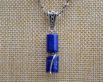 Lapis silver pendant, Lapis necklace, Lapis jewelry,  Silver lapis pendant, Lapis lazuli pendant, Blue lapis pendant, Lapis lazuli jewelry.