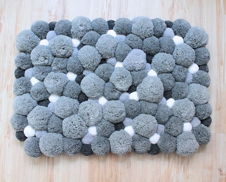 Badkamer Tapijt Badmat : Badkamer deken badmat pom pom tapijt pluizig tapijt etsy