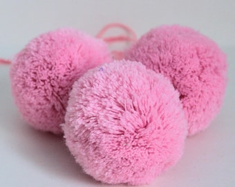 Round pom poms, 65mm, Choose colour, Ready Pom Poms, 70 colours, Acrylic pom pom, For Garlands, For Mobiles, For Rugs, Wedding Decoration