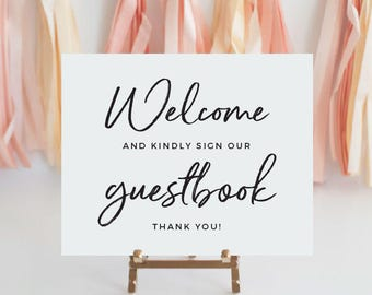 Guest book sign, Welcome Wedding shower guestbook sign, Bridal shower guestbook, Printable bridal shower signs, guestbook sign printable