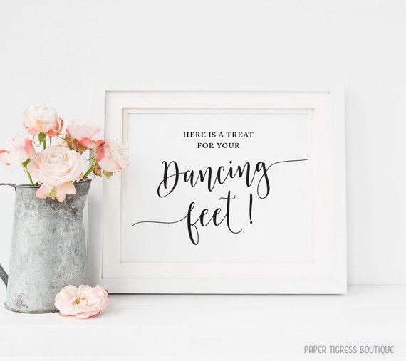 0e6782c47cd48 Dancing feet Sign Printable Flipflops sign Wedding flipflops