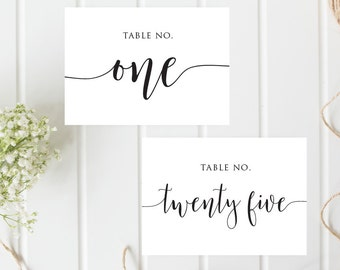1 to 26 Calligraphy table numbers, Printable Wedding Calligraphic Table Numbers, Rustic table numbers, Boho table numbers, Wedding printable