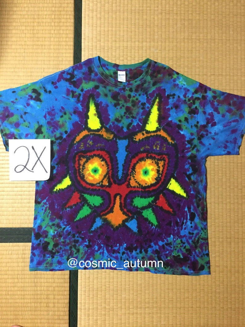 d8bfc5834b74 Video game mask tie dye shirt psychedelic hand made pop etsy jpg 794x1059  Trip tie dye