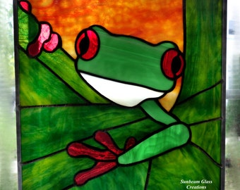 Stained Glass Tree Frog, Red Eyed Tree Frog, Agalychnis callidryas
