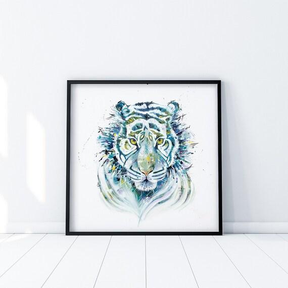 Tiger Art Gift Colorful Animal Art Print Wildlife Wall Art Limited Edition Print