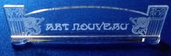 Personnalisé en verre acrylique nom plaque BAR Bureau Art Nouveau livraison gratuite