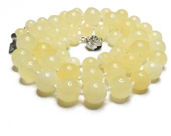 18g Royal white natural baltic amber necklace round beads amber milky amber ( 琥珀 янтарь bursztyn jantar Bernstein アンバー كهرمان )