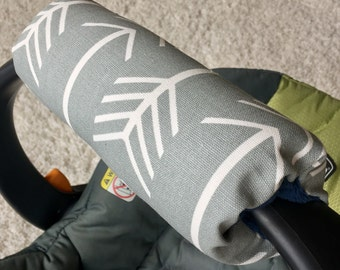 Grey Arrows Arm Pad For Infant Car Seat Handle Cushion Personalized Gift