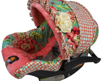 Baby Custom Car Seat Cover 4 Pc Love Bliss Replacement