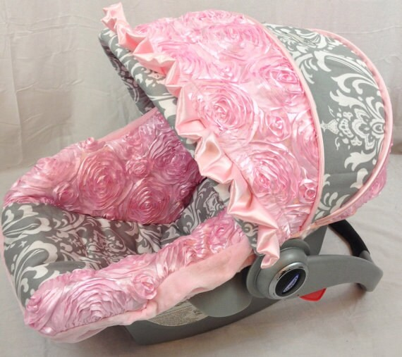 Custom Baby Car Seat Cover 4 Pc Set Fancy