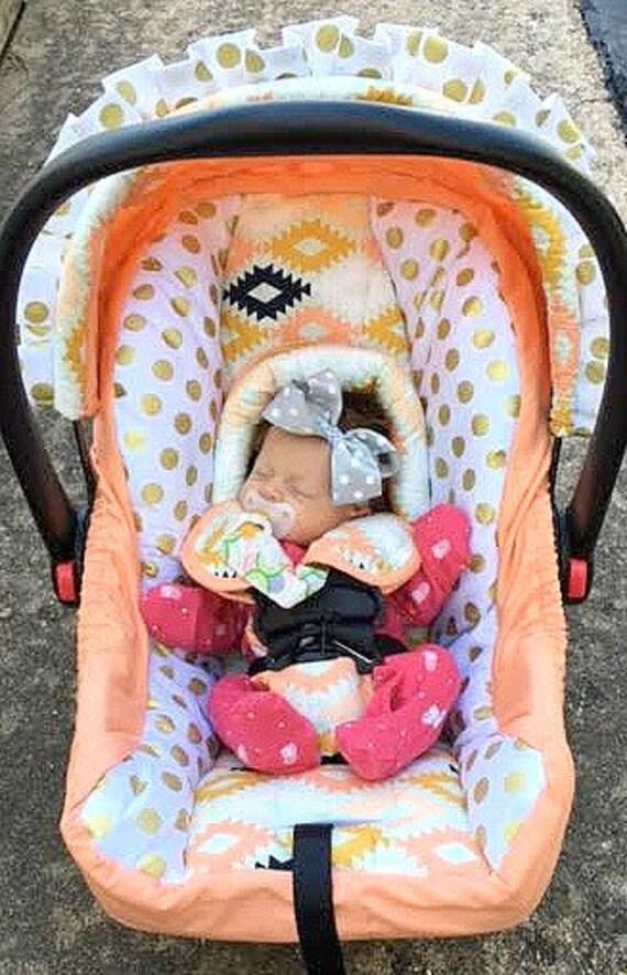 Custom Baby Car Seat Covers 4 Pc Set Aztec