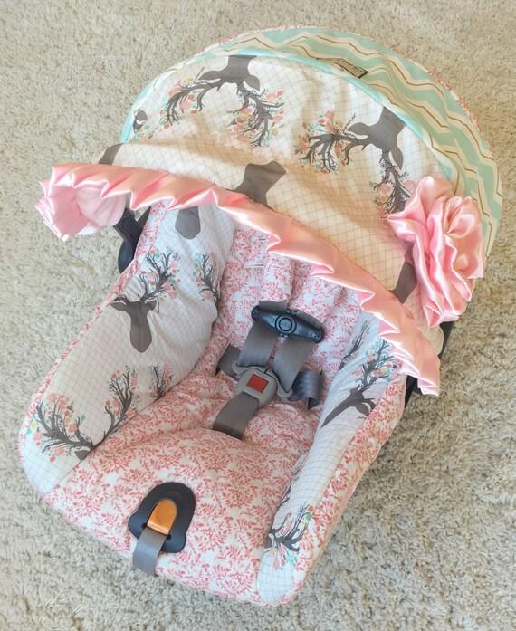 Custom Car Seat Cover 4 PC Set Baby Covers Deer