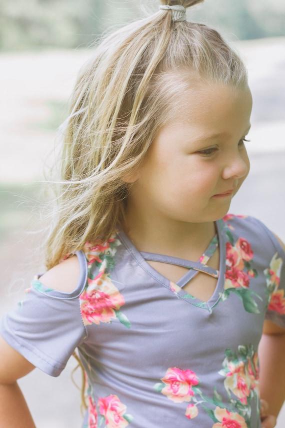 9826c36257ea Grey Floral Dress Blush Toddler Dress Charcoal Toddler   Etsy