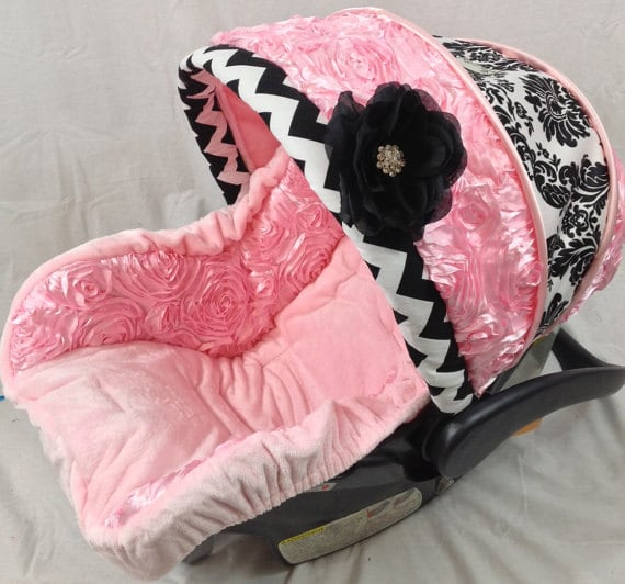 Infant Car Seat Covers 4 Pc Set Pink Custom Cover